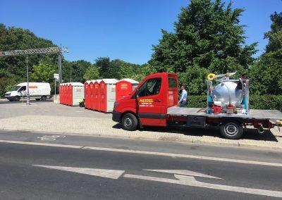 berliner firmenlauf hertel toiletten lieferwagen