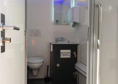 Jahresfeier Zahnarzt toilettenwagen klein hertel toiletten